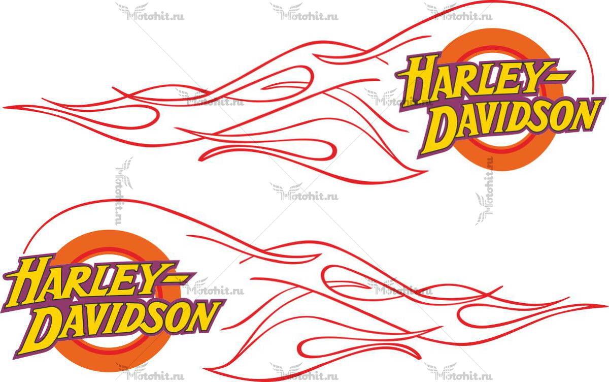 Наклейка HARLEY DAVIDSON FLAMES