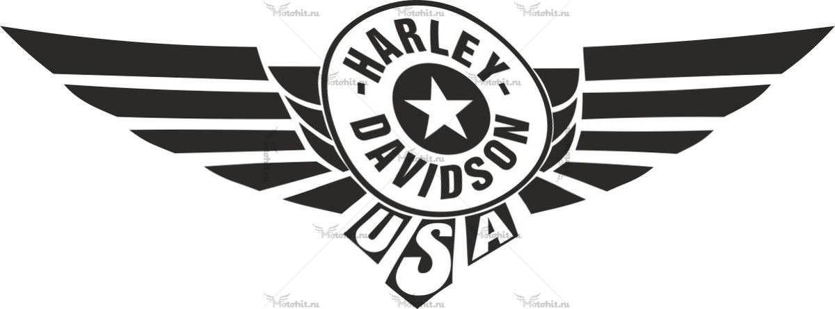 Наклейка HARLEY DAVIDSON USA