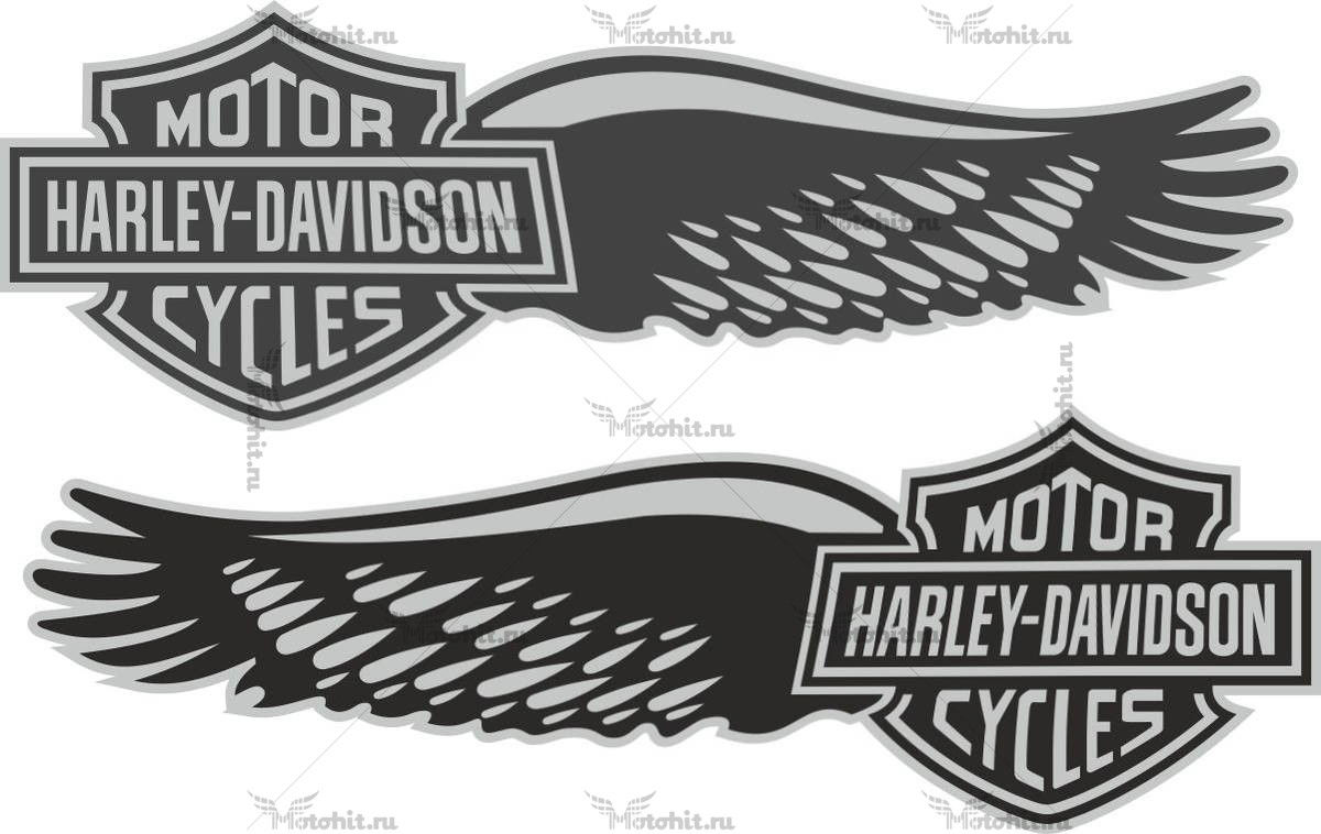Наклейка HARLEY DAVIDSON WINGS