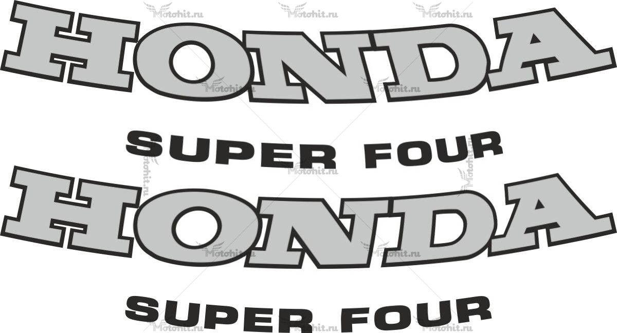 Наклейка Honda SUPER4-1