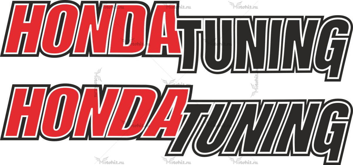 Наклейка Honda TUNING