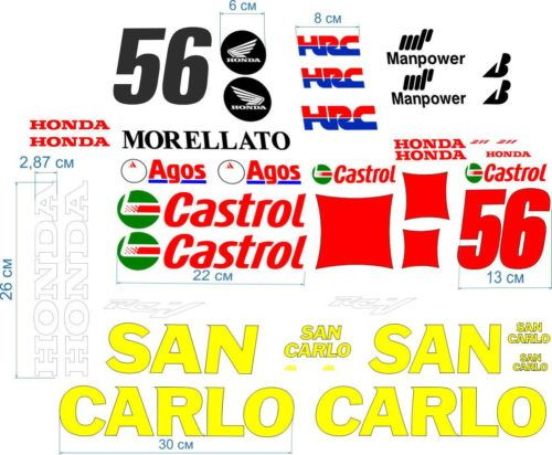 Комплект наклеек Honda 56 SAN-CARLO 2013