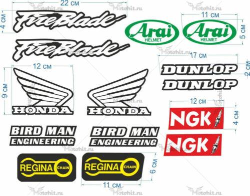 Комплект наклеек Honda FIREBLADE-BIRD-MAN-UNIVERSAL