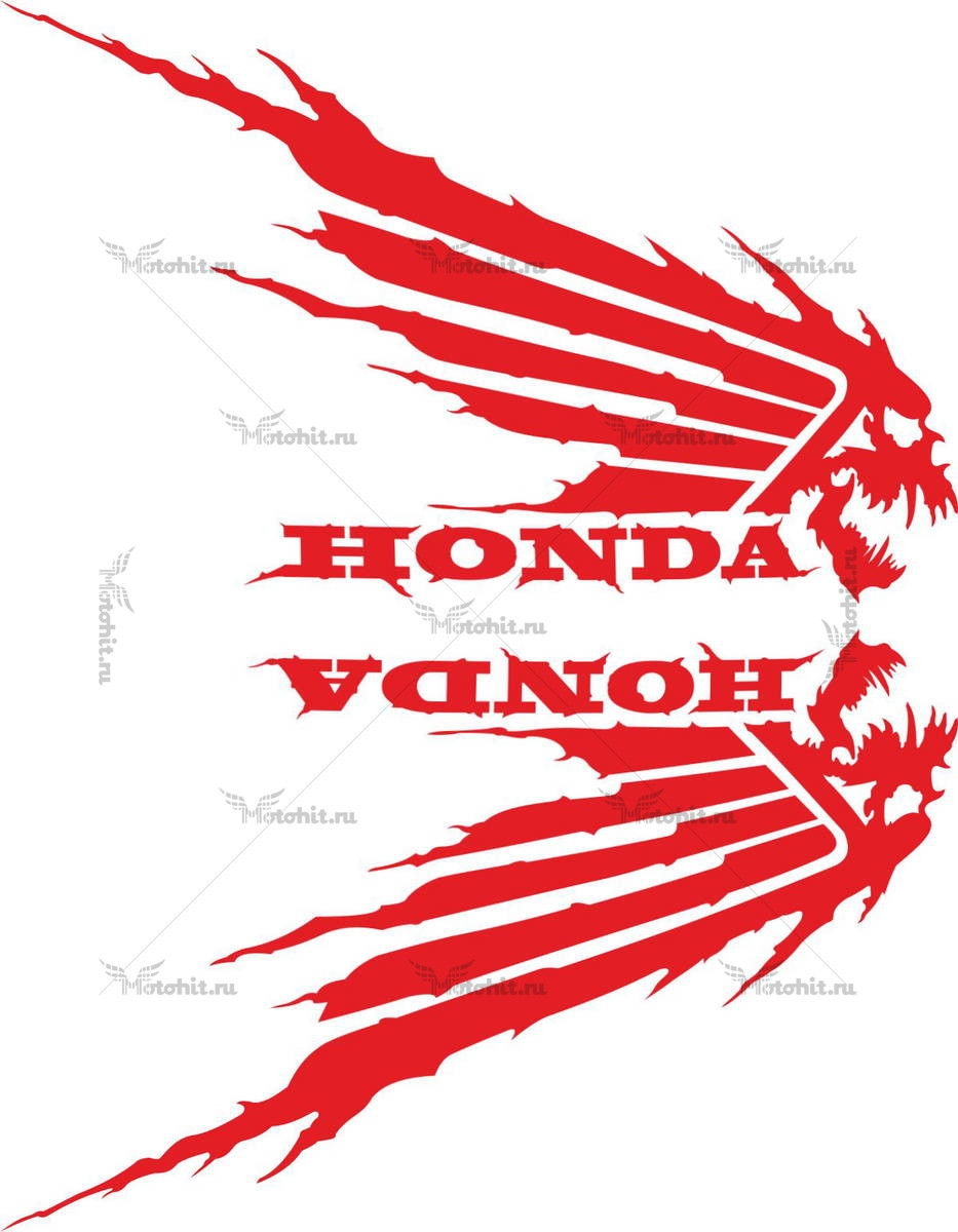 Комплект наклеек Honda WINGS-09