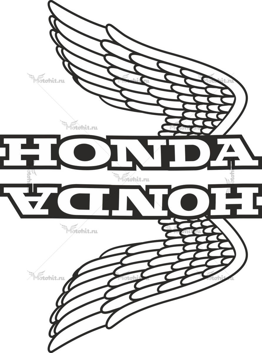 Комплект наклеек Honda WINGS-11