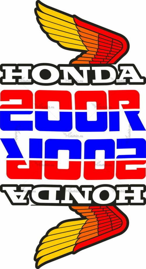 Комплект наклеек Honda WINGS-15