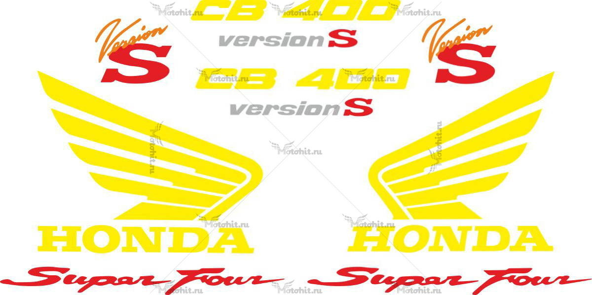 Комплект наклеек Honda CB-400 1992-1997 SF