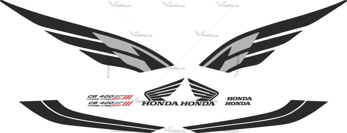 Комплект наклеек Honda CB-400 2004 VTEC-3 BLACK