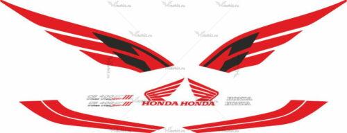 Комплект наклеек Honda CB-400 2004 VTEC-3 RED