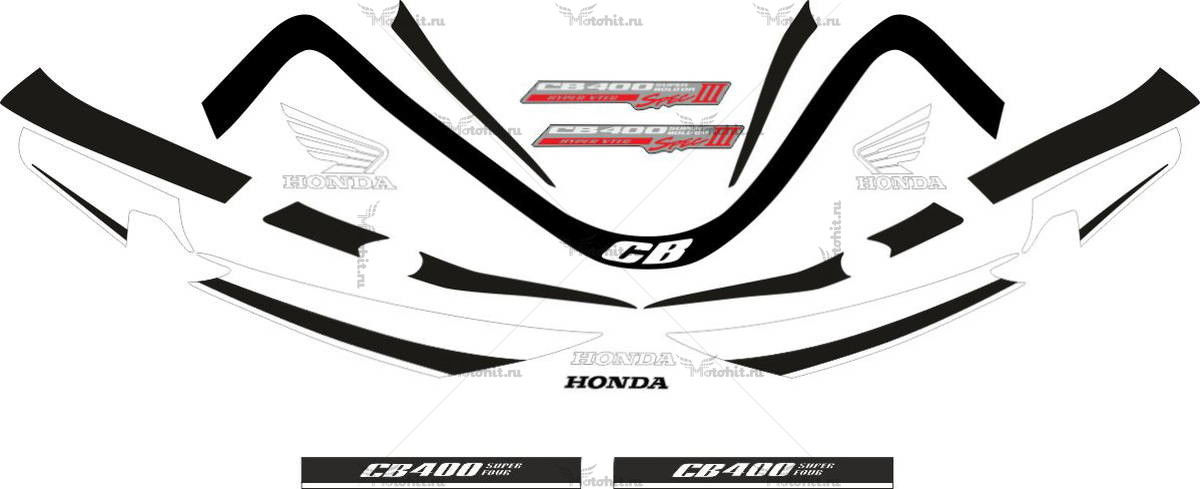 Комплект наклеек Honda CB-400 2007