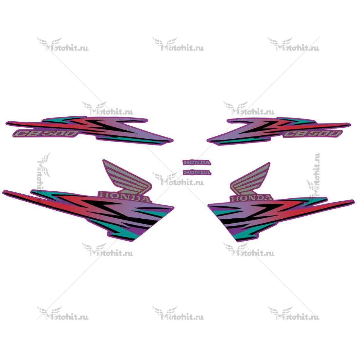 Комплект наклеек Honda CB-500 1999 violet