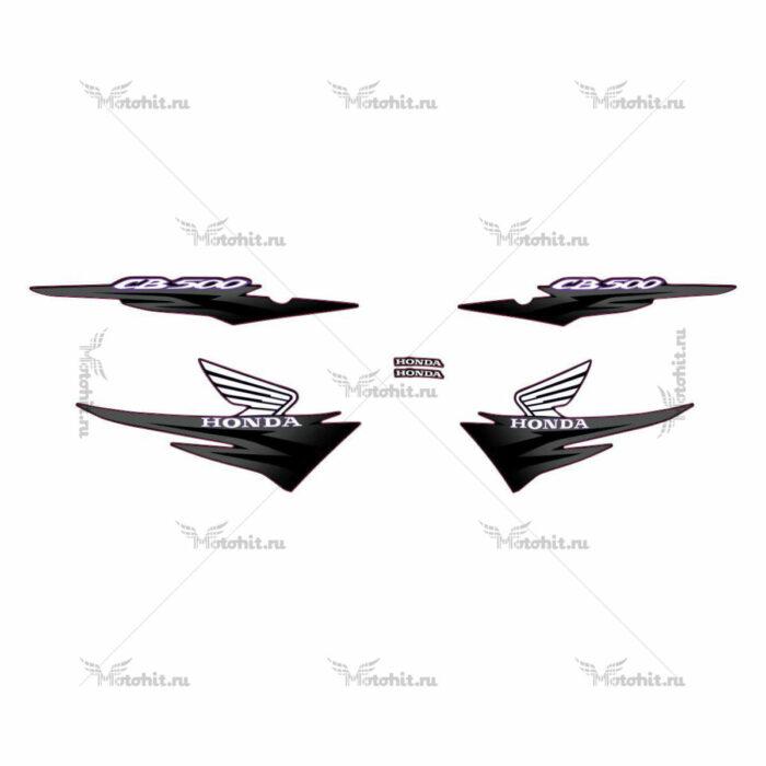 Комплект наклеек Honda CB-500 2001 BLACK