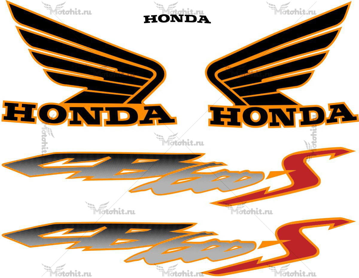 Комплект наклеек Honda CB-600-S HORNET 2000-2003 2