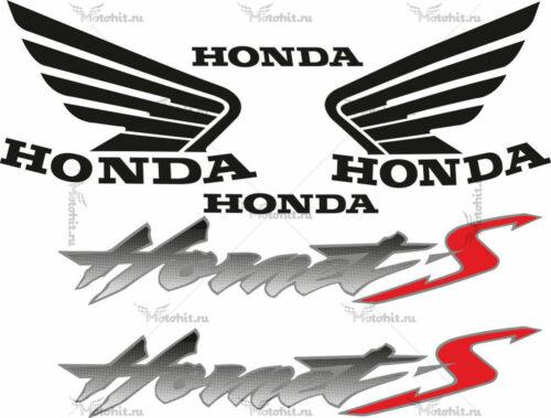 Комплект наклеек Honda CB-600-S HORNET 2000-2003 BLACK