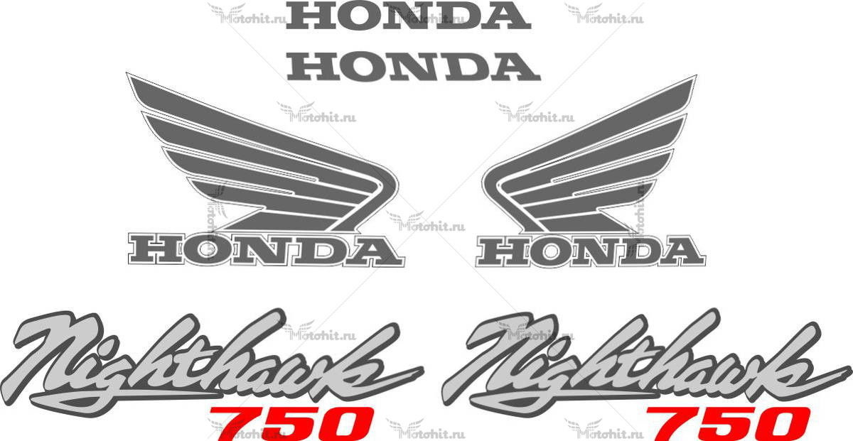 Комплект наклеек Honda CB-750-SC 1991-NIGHTHAWK