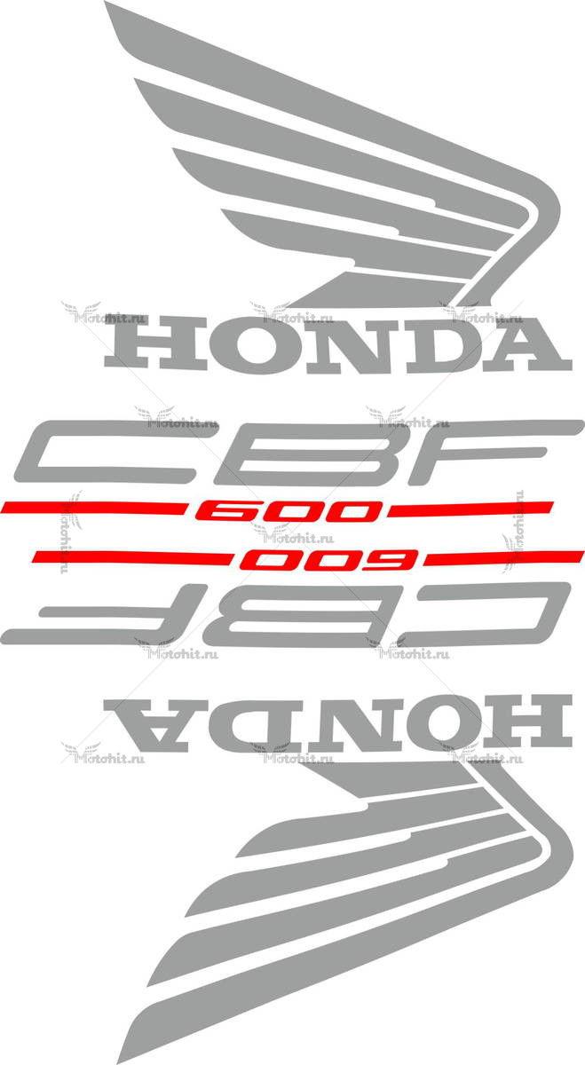 Комплект наклеек Honda CB-600-F 2004+