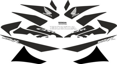 Комплект наклеек Honda CBR-125-R 2004-2014 BLACK
