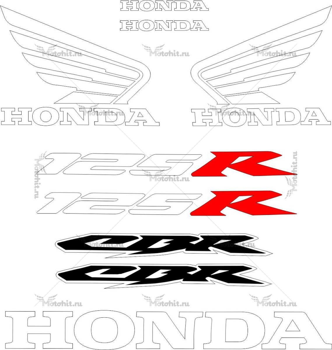 Комплект наклеек Honda CBR-125-R 2004-2014 TXT