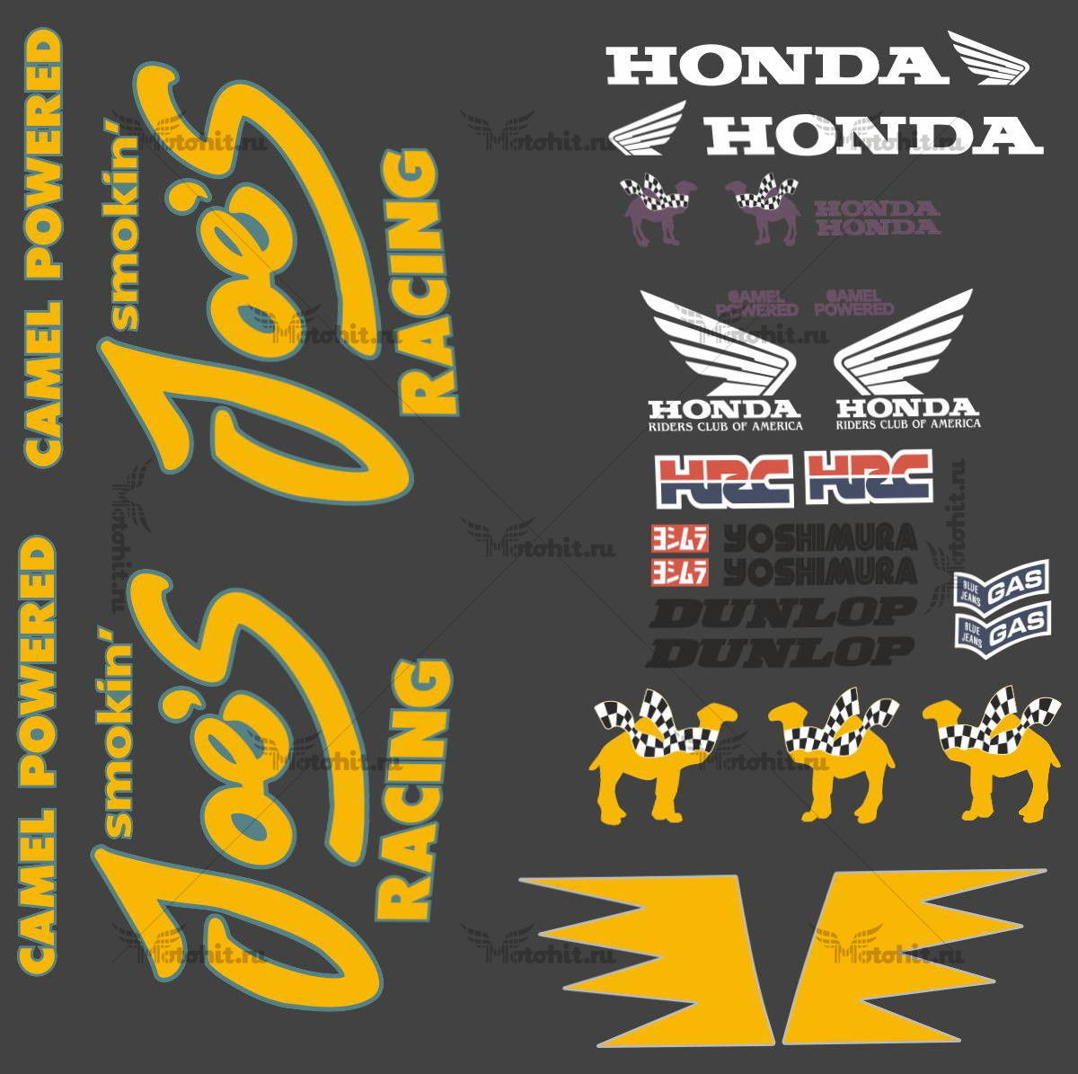 Комплект наклеек Honda CBR-400-F CAMEL