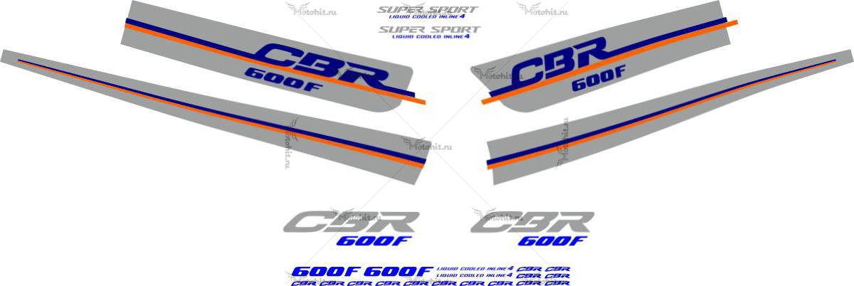 Комплект наклеек Honda CBR-600-F 1988