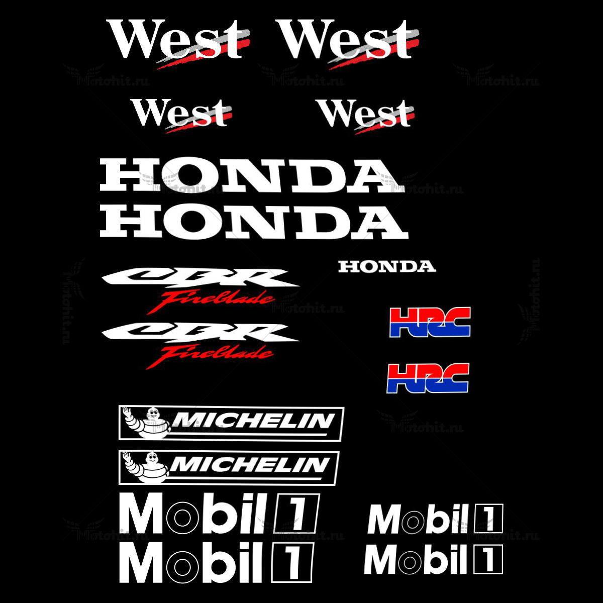 Комплект наклеек Honda CBR-600-F 1993