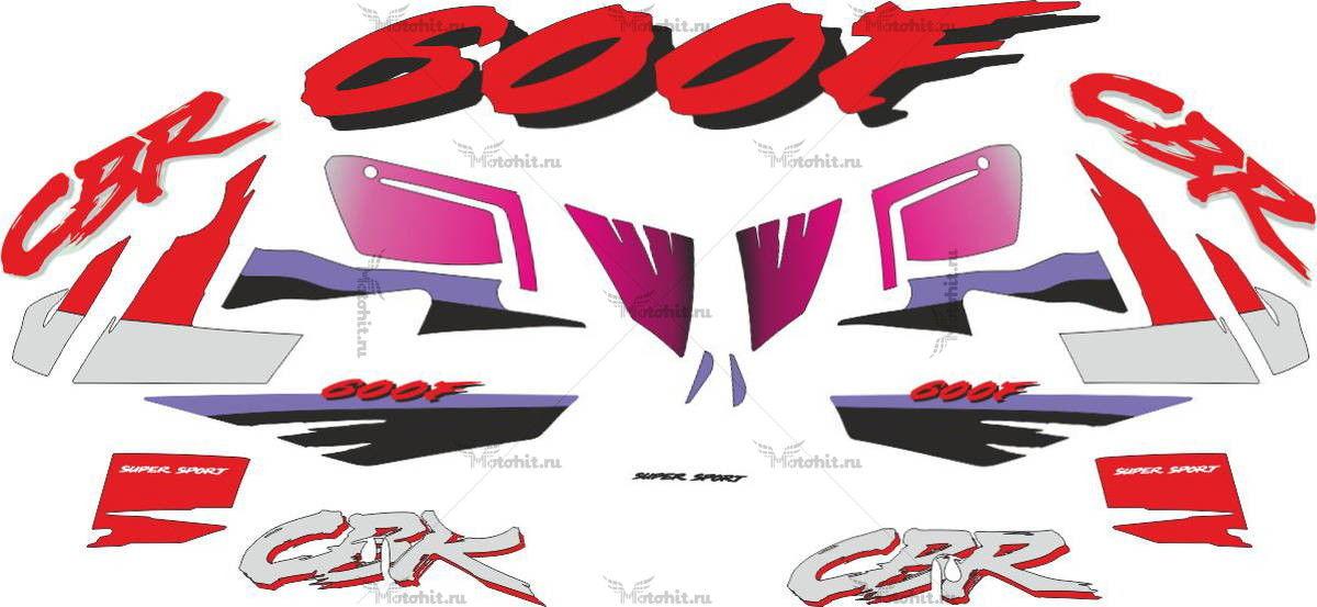 Комплект наклеек Honda CBR-600-F 1994
