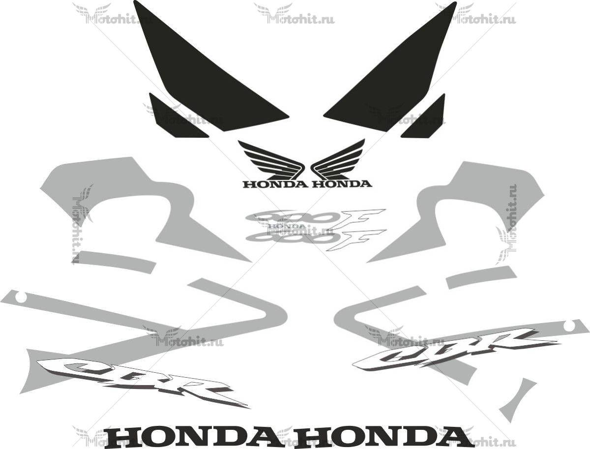 Комплект наклеек Honda CBR-600-F 2006-2007 silver