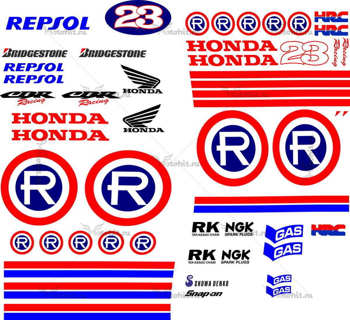 Комплект наклеек Honda CBR-600-F 2006 REPSOL-RETRO