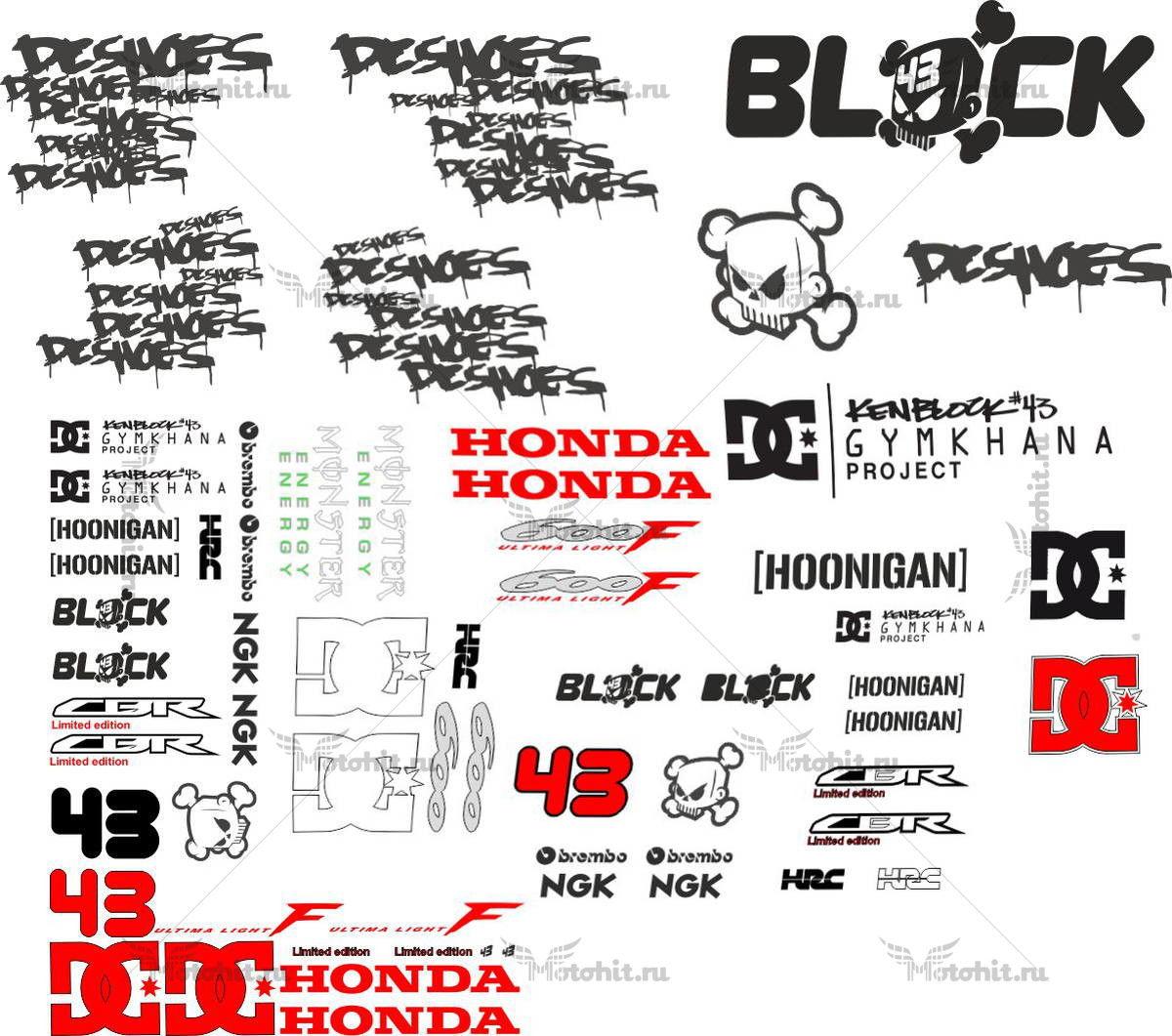 Комплект наклеек Honda CBR-600-F KEN-BLOCK
