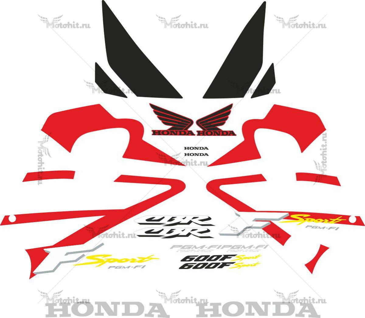 Комплект наклеек Honda CBR-600-F SPORT 2001-2002
