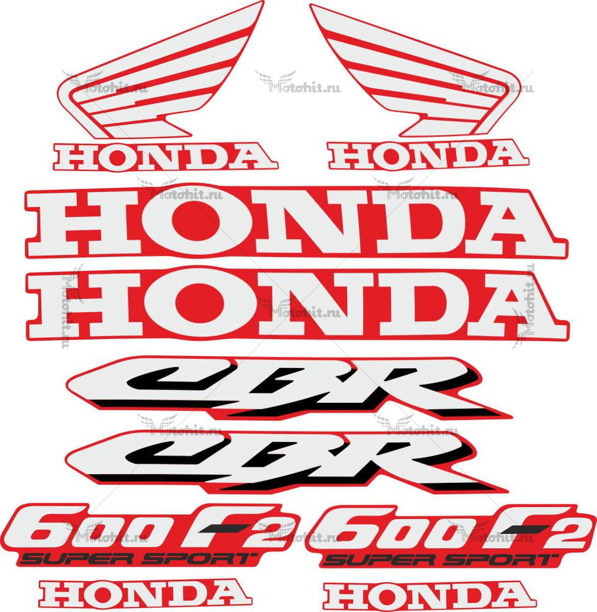 Комплект наклеек Honda CBR-600-F2 1991