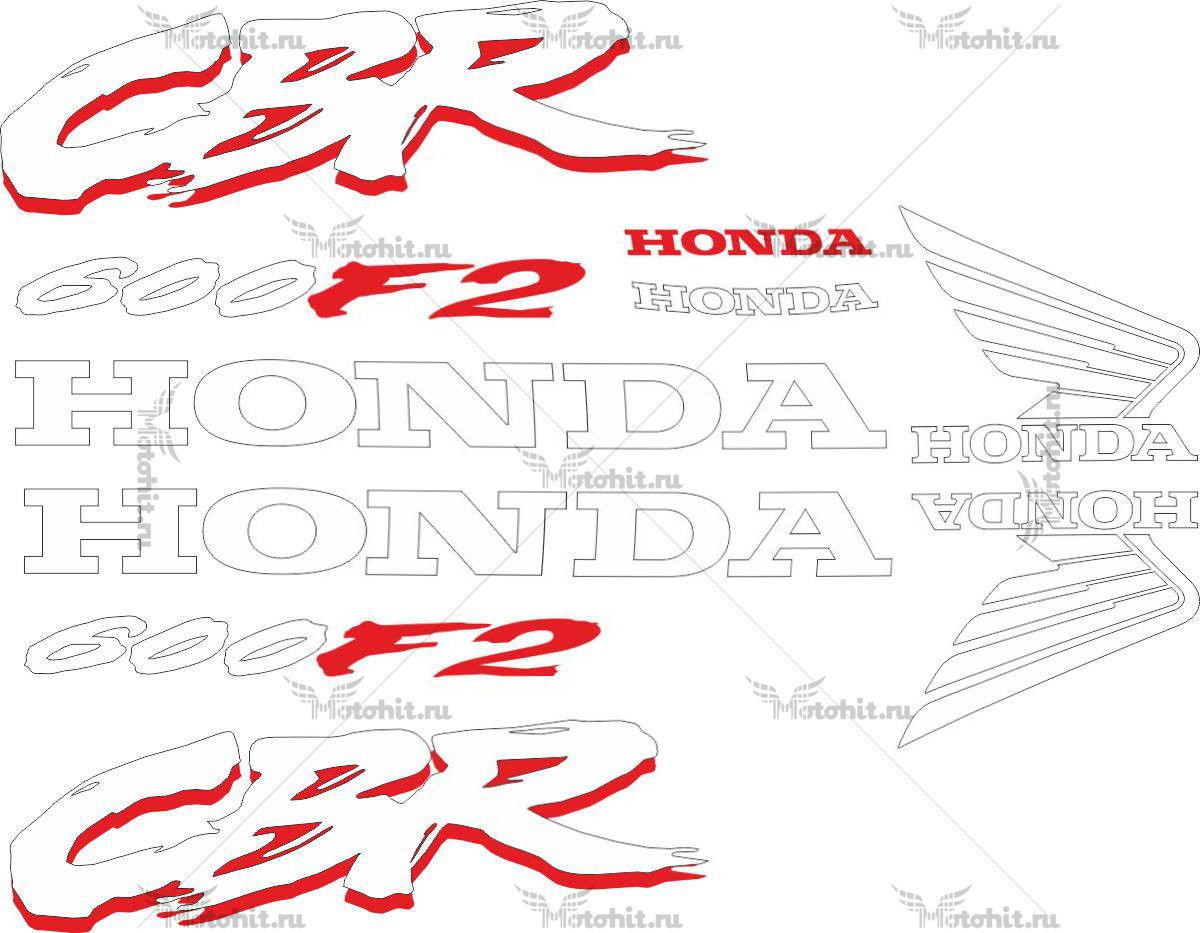 Комплект наклеек Honda CBR-600-F2 1993