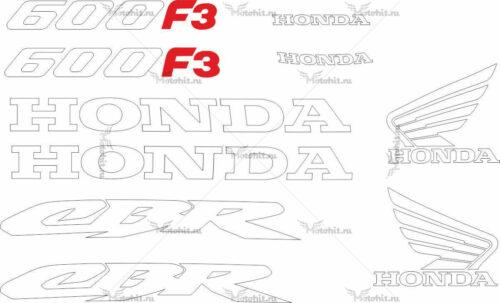 Комплект наклеек Honda CBR-600-F3 1998 2