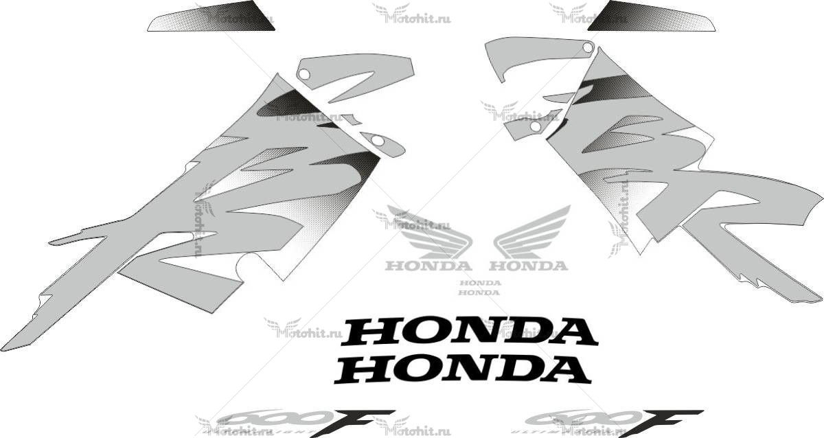 Комплект наклеек Honda CBR-600-F4 1999-2000 FOR-YELLOW