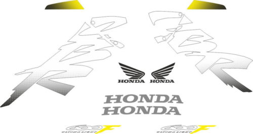 Комплект наклеек Honda CBR-600-F4 1999-2000 YELLOW-TORQUE