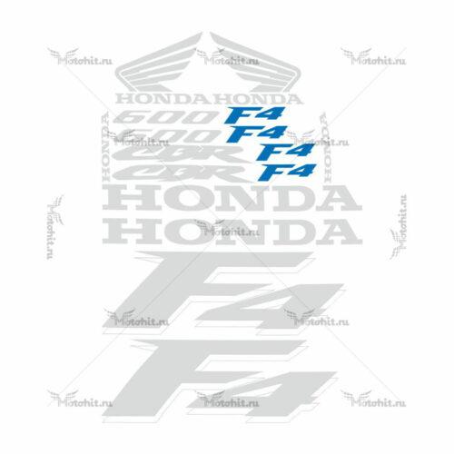 Комплект наклеек Honda CBR-600-F4 1999 TXT