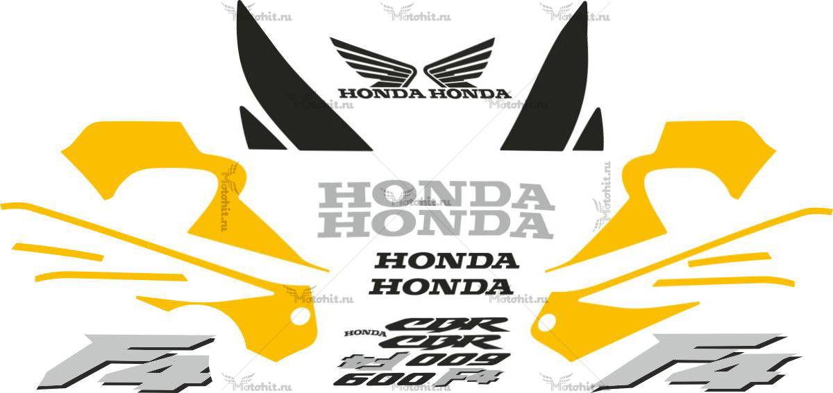 Комплект наклеек Honda CBR-600-F4 2001-2002 US