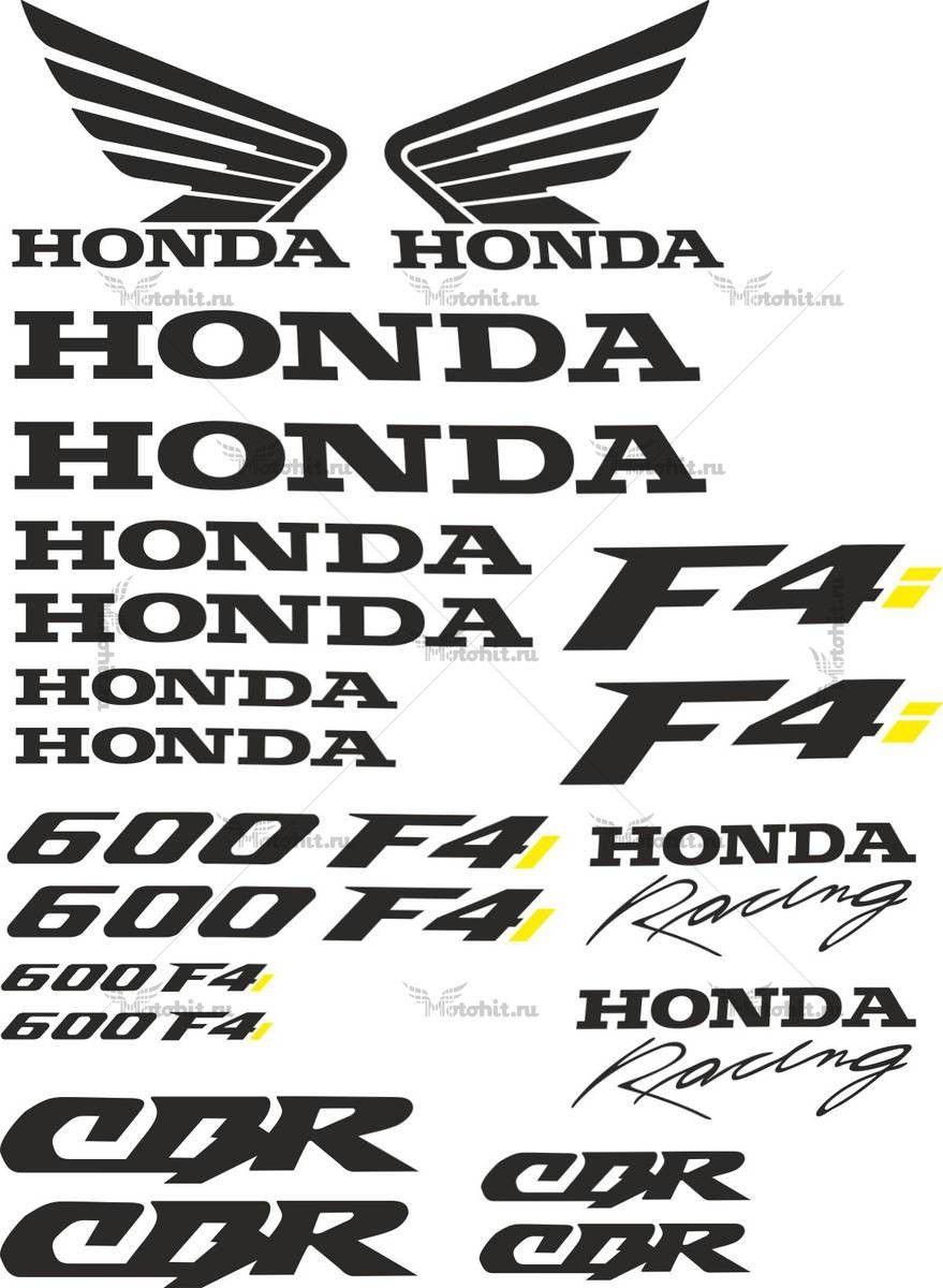 Комплект наклеек Honda CBR-600-F4I-2