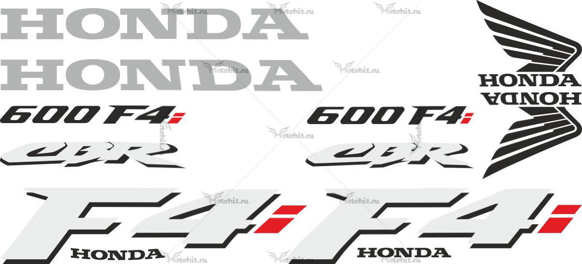 Комплект наклеек Honda CBR-600-F4I-3