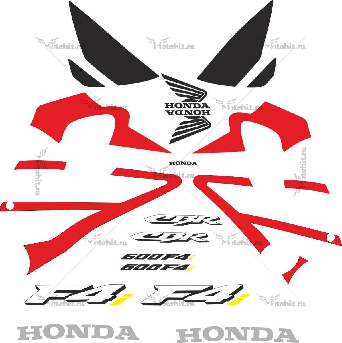 Комплект наклеек Honda CBR-600-F4I 2001-2005