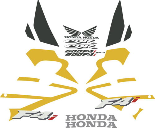 Комплект наклеек Honda CBR-600-F4I 2001-2005 GOLD