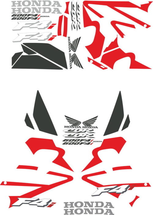 Комплект наклеек Honda CBR-600-F4I 2001-2005 RED