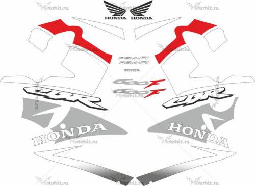 Комплект наклеек Honda CBR-600-F4I 2001-2006 FOR-BLUE-RED