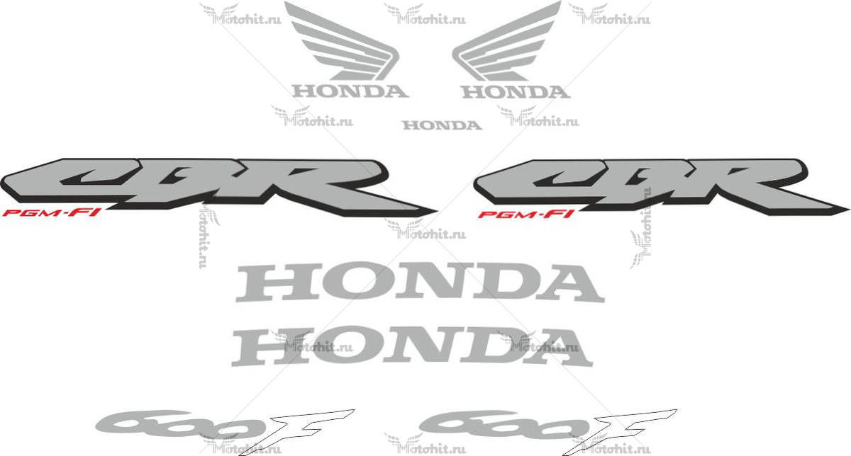 Комплект наклеек Honda CBR-600-F4I 2001-2006 FOR-DARK