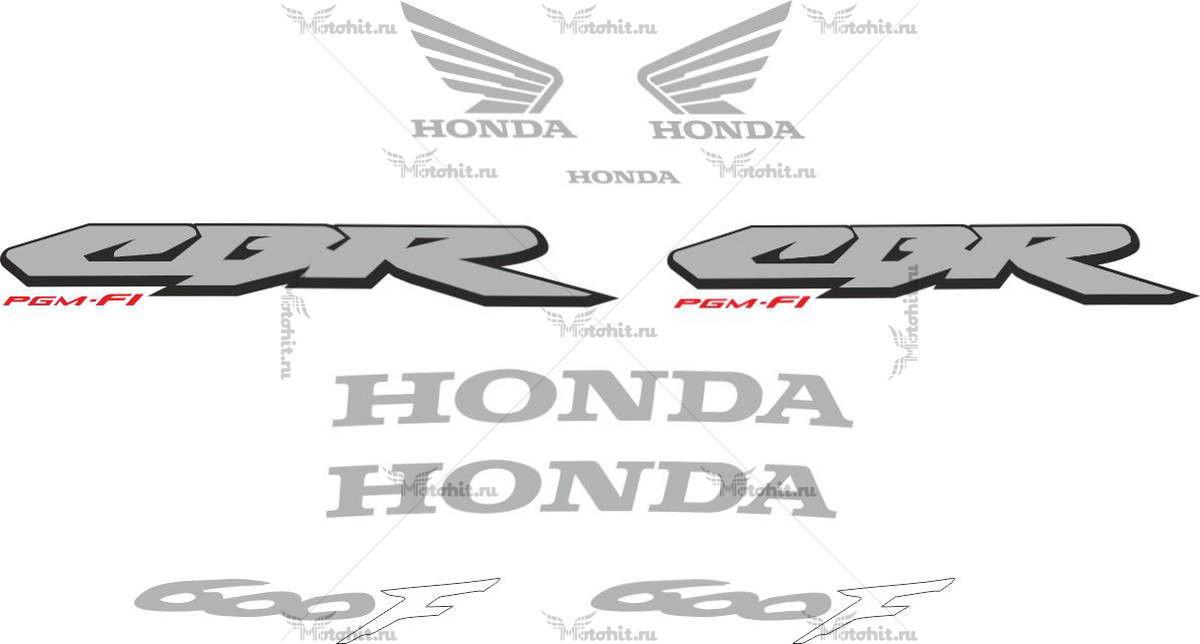 Комплект наклеек Honda CBR-600-F4I 2001-2006 FOR-DARK