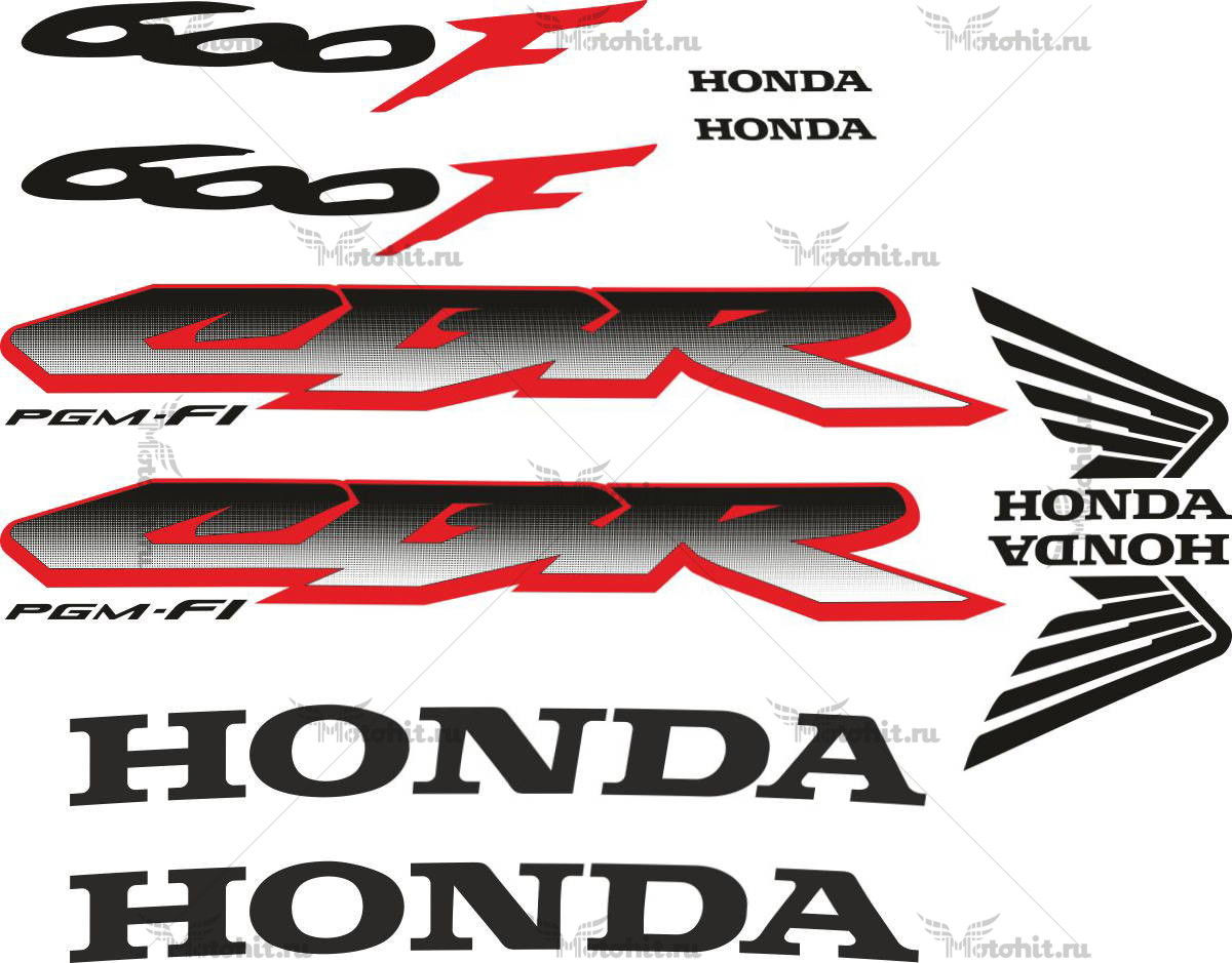 Комплект наклеек Honda CBR-600-F4I 2001-2006 FOR-LIGHT