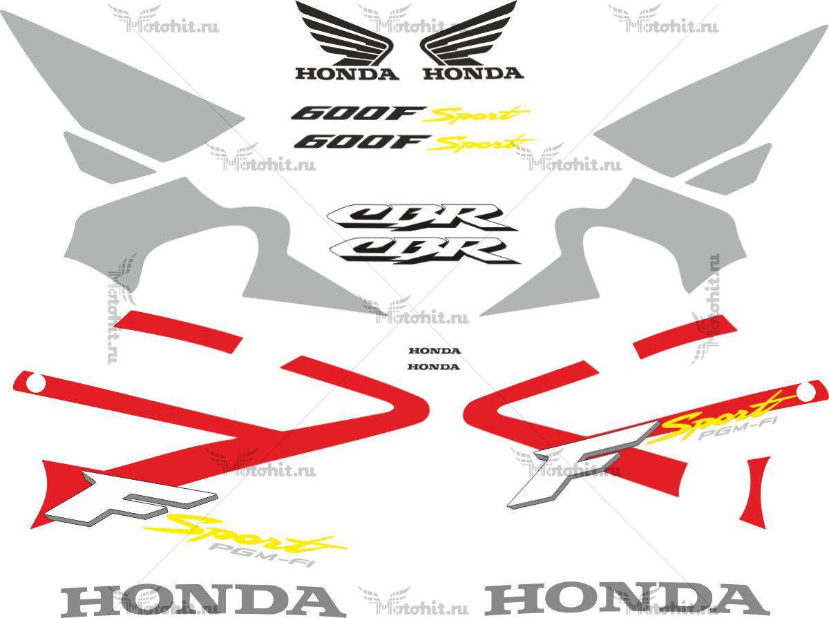 Комплект наклеек Honda CBR-600-F4I 2001-2006 SPORT