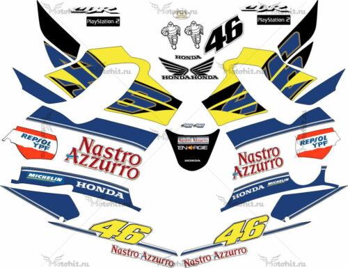 Комплект наклеек Honda CBR-600-F4I 2002 BLACK-NASTRO