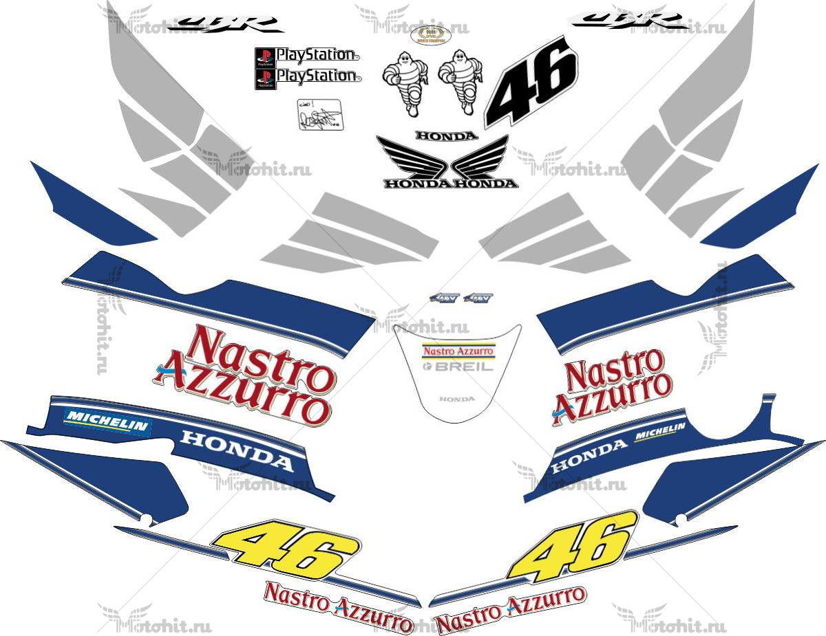 Комплект наклеек Honda CBR-600-F4I 2002 SILVER-NASTRO