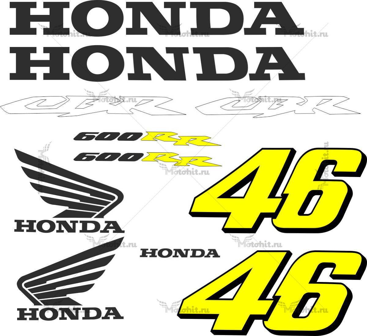 Комплект наклеек Honda CBR-600 ROSSI-MONSTER